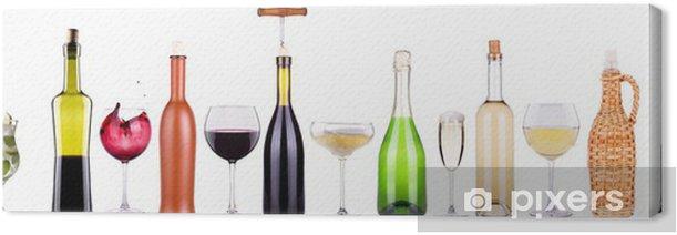 Leinwandbild Wein, Sekt, Bier, Cocktail-Set - Geschäftsleben