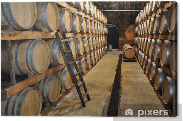 Leinwandbild Weinkeller Wein Weinfässer - Schwerindustrie