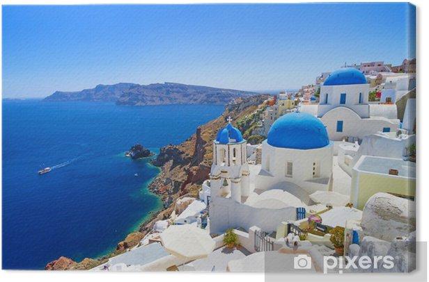 Leinwandbild Weiße Architektur in Santorini - Santorini