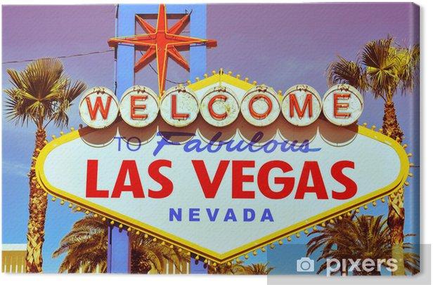 Leinwandbild Welcome to Fabulous Las Vegas Schild - Las Vegas