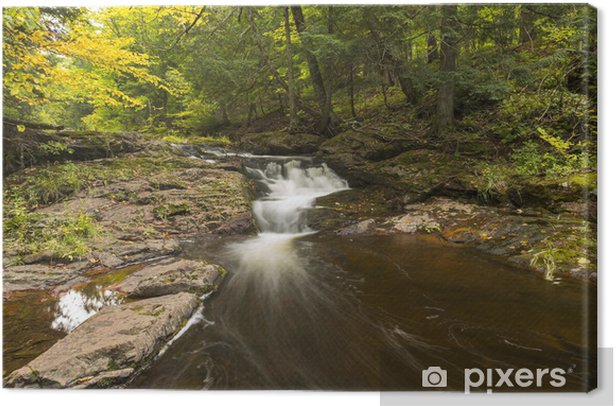 Leinwandbild Wenig Carp River Falls - Wasser