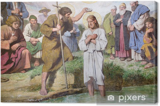 Leinwandbild Wien Taufe Von Jesus Christus