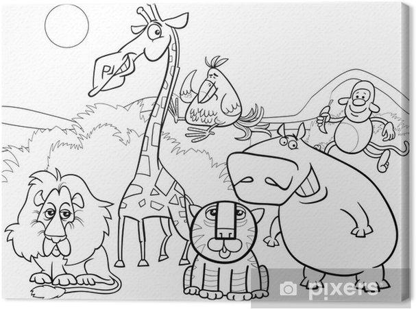 Leinwandbild Wilde Tiere Gruppe Malvorlagen Pixers Wir Leben