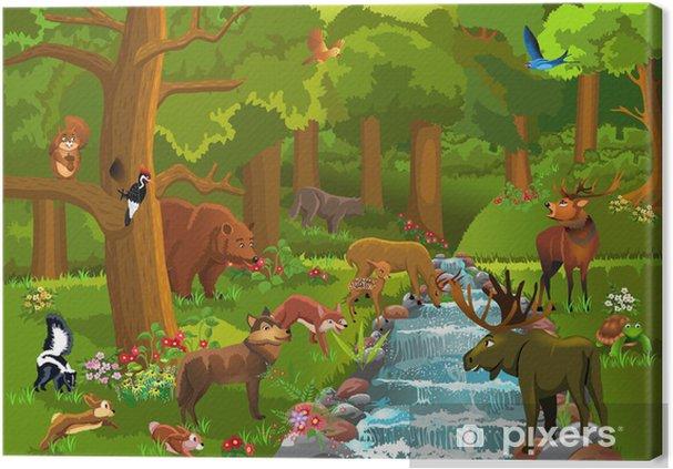 Leinwandbild Wilde Tiere im Wald - Säugetiere