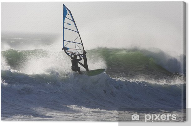 Leinwandbild Wind surfing - Einzelsportarten
