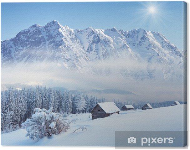 Leinwandbild Winter in der Berg-Tal - Jahreszeiten
