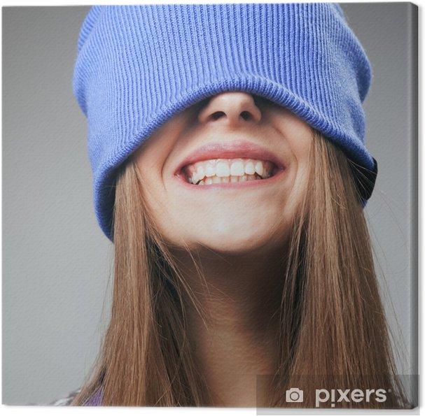 Leinwandbild Winter Lächeln - Themen