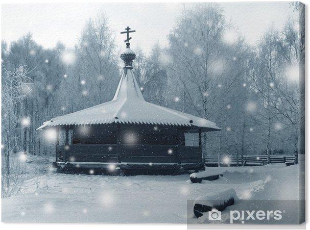 Leinwandbild Winterbild - Jahreszeiten