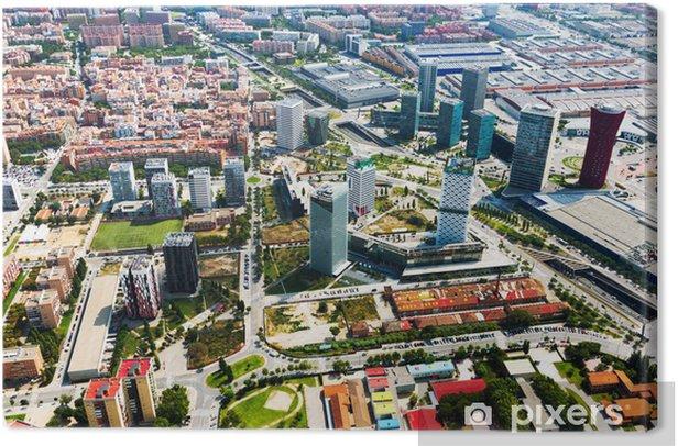 Leinwandbild Wolkenkratzer in Sants-Montjuic Bezirk. Barcelona - Stadt