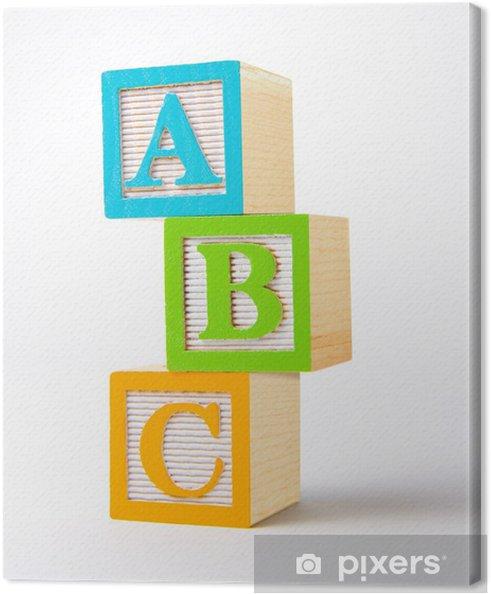 Leinwandbild Wooden Alphabet Blöcke -