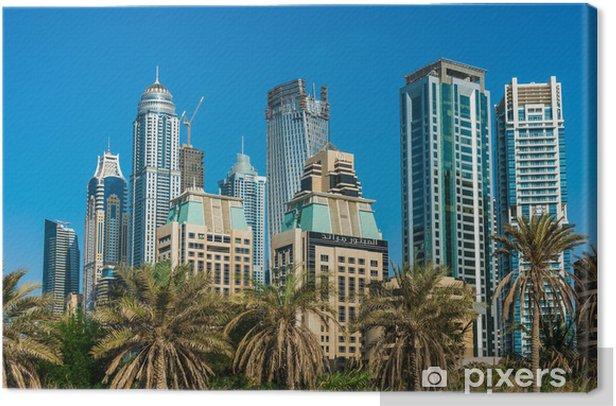Leinwandbild Yacht Club in Dubai Marina. UAE. 16. November 2012 - Private Gebäude