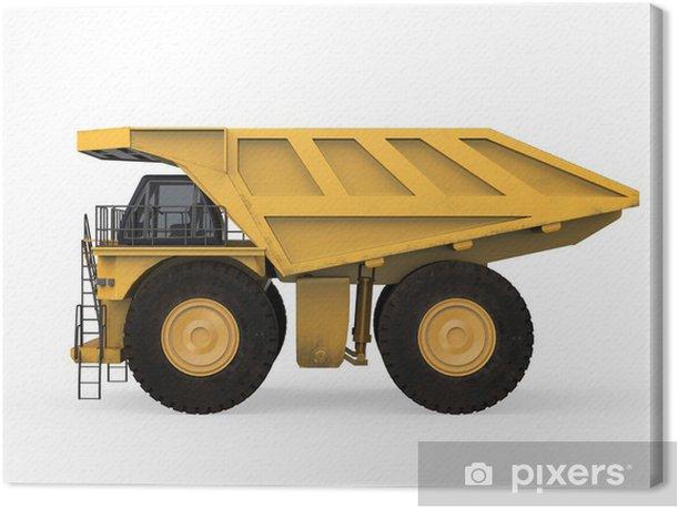 Leinwandbild Yellow Mining Truck Isoliert - Rohstoffe