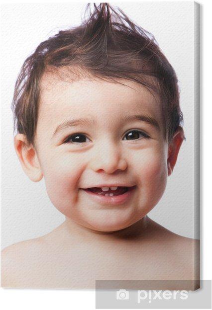 Leinwandbild Zahnen Baby Kleinkind Mit Frisur