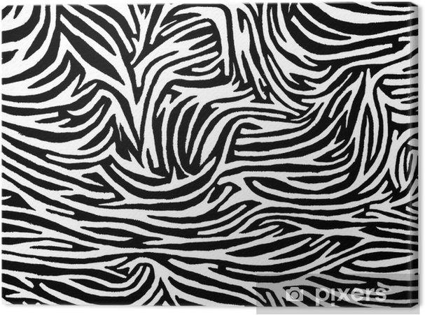 Leinwandbild Zebra - Grafische Elemente