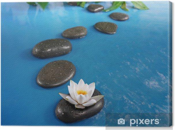 Leinwandbild Zen Steine im Wasser - Themen