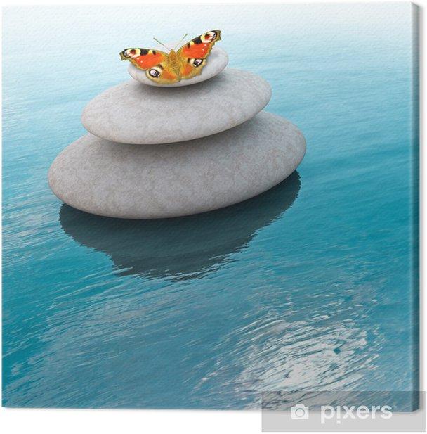 Leinwandbild Zen Steine - Themen