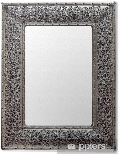 Leinwandbild Zinn Mirror Frame Ausschnitt - Haus und Garten