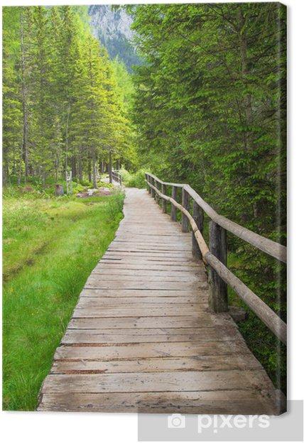 Leinwandbild Zu Fuß in den Wald - Urlaub