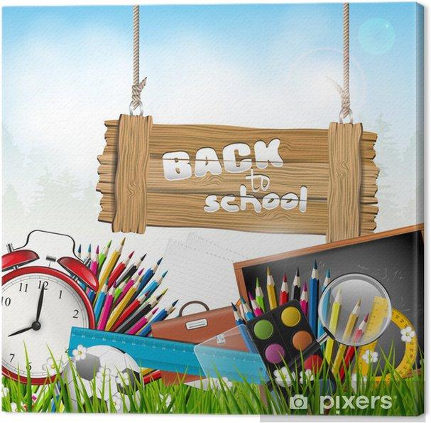 Leinwandbild Zurück in der Schule - Vektor-Hintergrund - Bereich