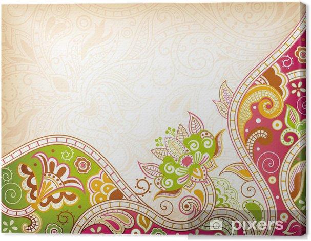 Leinwandbild Zusammenfassung Swirly Floral - Hintergründe