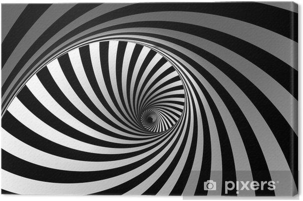 Lerretsbilde 3D abstrakt spiral -