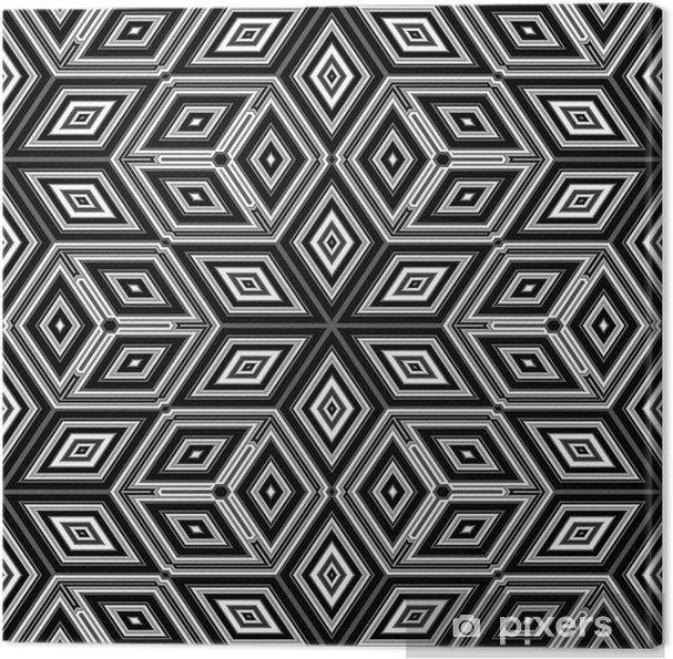 Lerretsbilde 3d abstrakte kuber som ligner en Escher-illustrasjon -