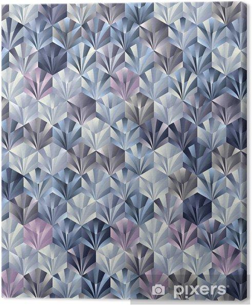 Lerretsbilde 3d geometrisk sømløs mønster. - Styles