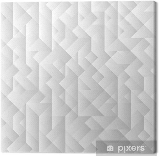 Lerretsbilde 3d grå geometrisk bakgrunn - Geometry