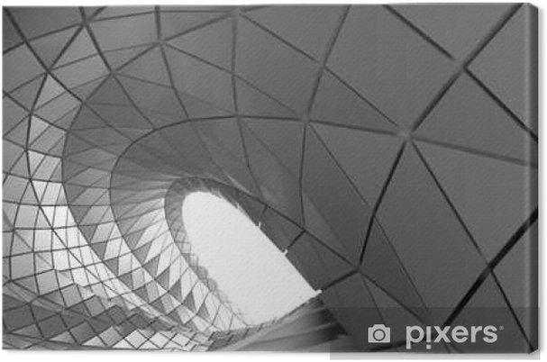 Lerretsbilde Abstrakt kurve av tunnel - Grafiske Ressurser
