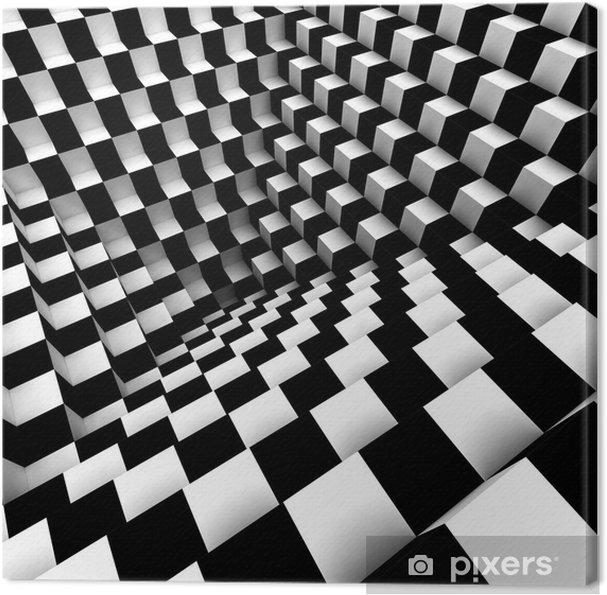 Lerretsbilde Abstrakt optisk kunst -