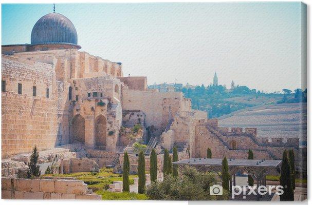 Lerretsbilde Al-Aqsa-moskeen i Omar - Liv