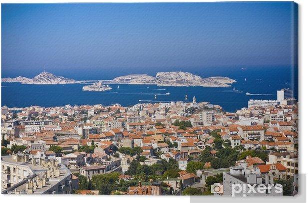 Lerretsbilde Areal Utsikt Over Marseille Fra Mountian Frankrike Pixers Vi Lever For Forandring