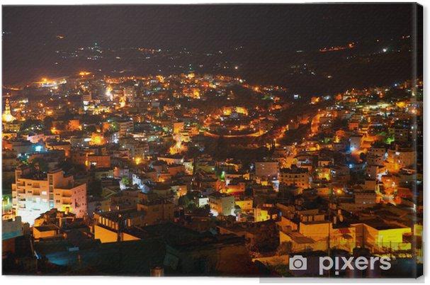 Lerretsbilde Betlehem, Palestina, Israel: natt panoramautsikt til byen - Tungindustri