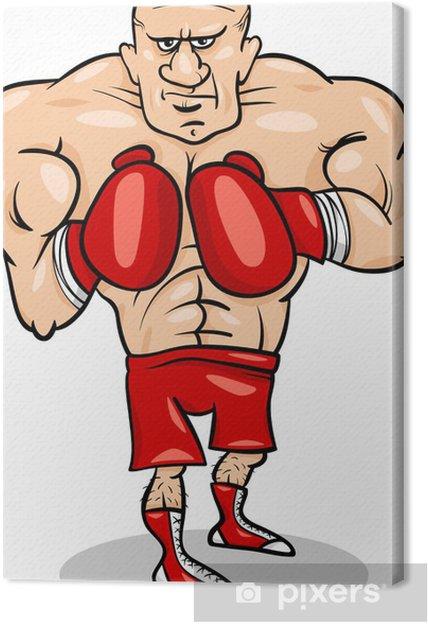 b2bbbe34 Lerretsbilde Bokser sportsmann tegneserie illustrasjon - Individuelle  Idretter