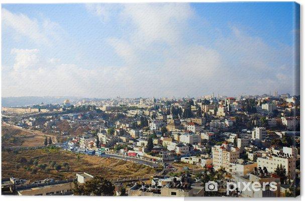 Lerretsbilde By panorama, Jerusalem - Midtøsten