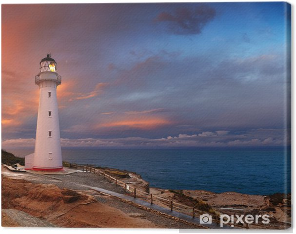 Lerretsbilde Castle Point Lighthouse, New Zealand - Lighthouse