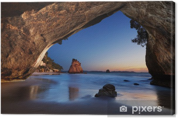 Lerretsbilde Cathedral Cove, New Zealand -