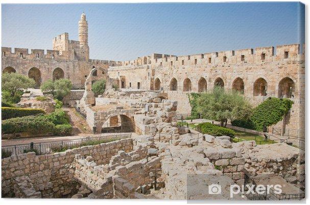 Lerretsbilde Davids tårn i Jerusalem, Israel -
