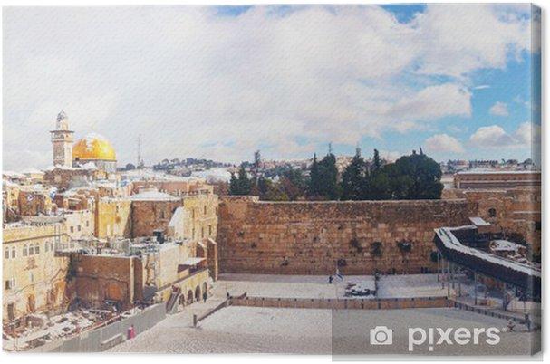 Lerretsbilde Den vestlige mur i Jerusalem, Israel - Midtøsten