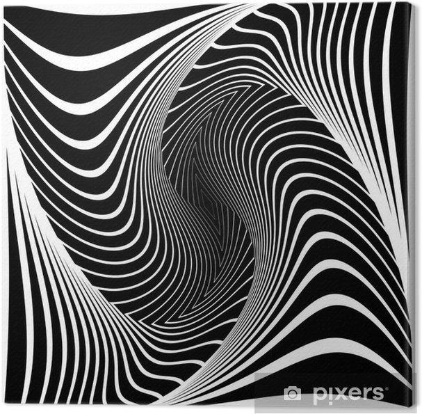 Lerretsbilde Design monokrom vortex bevegelse illusjon bakgrunn -