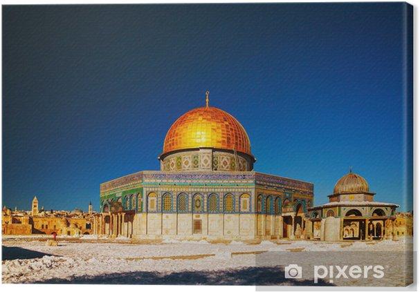 Lerretsbilde Dome of the Rock moskeen i Jerusalem - Midtøsten