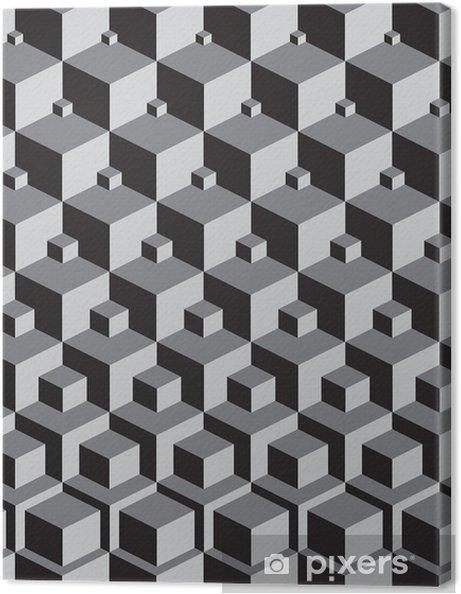 Lerretsbilde Escher inspirert stabling kuber kunst -