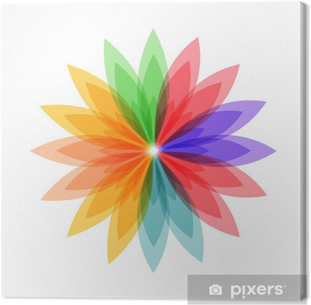 55d4dde3 Lerretsbilde Fargerik blomst. mange farger. • Pixers® - Vi lever for ...