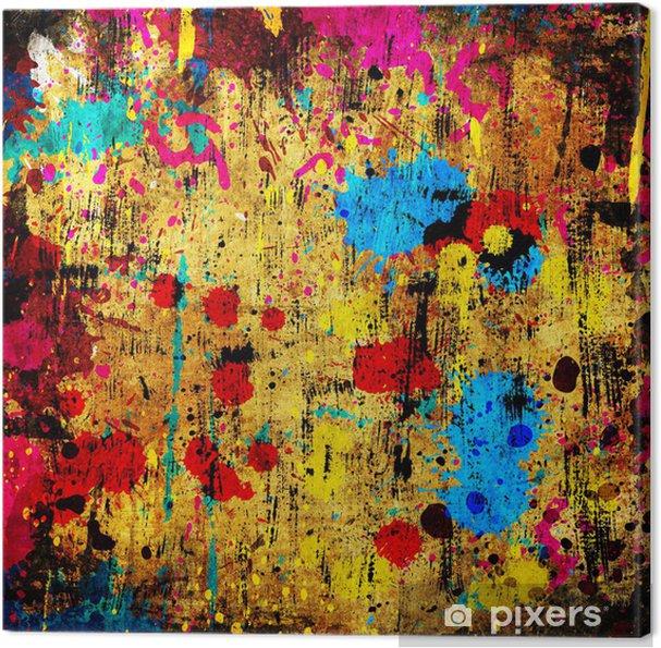 1b634d84 Lerretsbilde Fargerik grunge bakgrunn med flekker av maling • Pixers ...