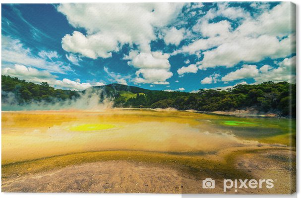 Lerretsbilde Fargerikt termisk landskap i New Zealand - Oseania