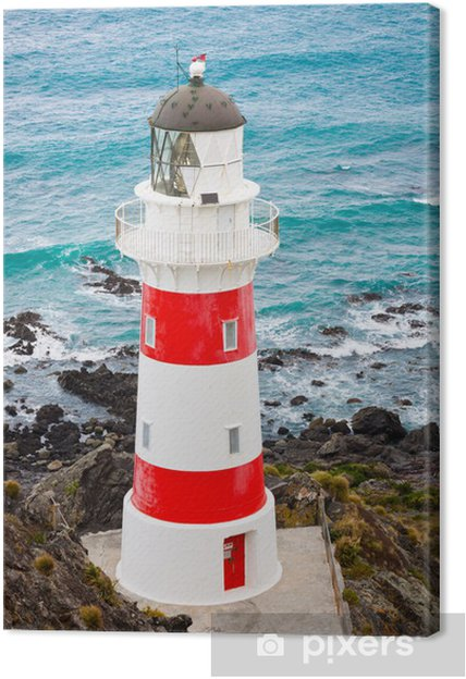 Lerretsbilde Fyr på Cape Palliser, New Zealand - Lighthouse