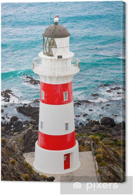 Lerretsbilde Fyr på Cape Palliser, New Zealand - Lighthouse