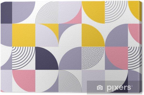 657469af Lerretsbilde Geometrisk mønster vektor bakgrunn med skandinavisk abstrakt  farge eller sveitsisk geometri utskrifter av rektangler, firkanter og  sirkler form ...