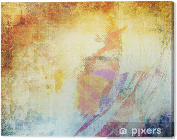 64f0b7d7 Lerretsbilde Grunge fargestruktur, blå og brun farge • Pixers® - Vi ...