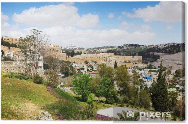 Lerretsbilde Hellige Jerusalem - Midtøsten